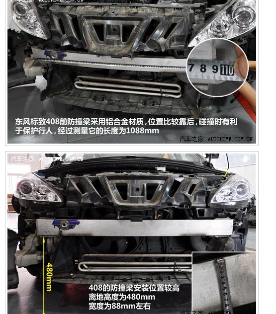 东风标致408自动尊贵版汽车防撞梁调查结果